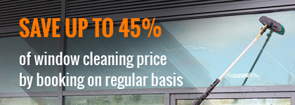 Book Regular window cleaning and save up to 45%