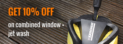 Window Cleaning + Jet Wash Cleaning Get 10% OFF