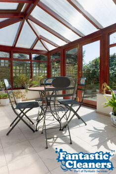 beautiful conservatory with clean windows